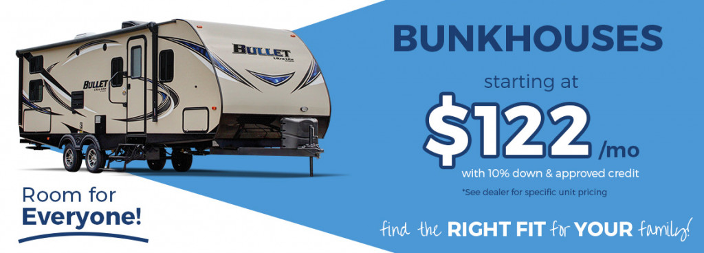 RV Bunkhouses for sale banner